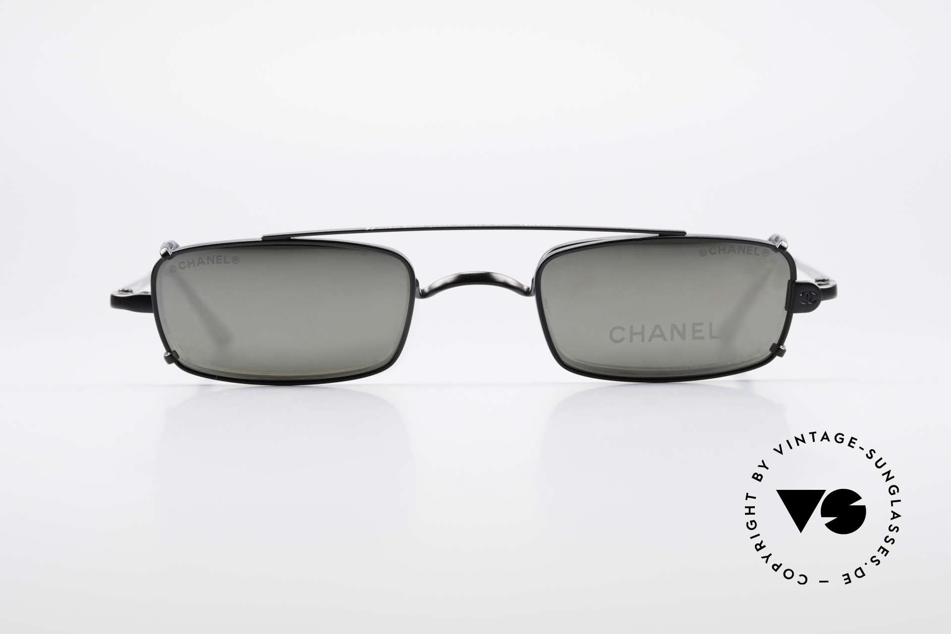 Chanel 2038 Luxury Glasses With Clip On, square vintage frame + practical clip-on; black finish, Made for Men and Women