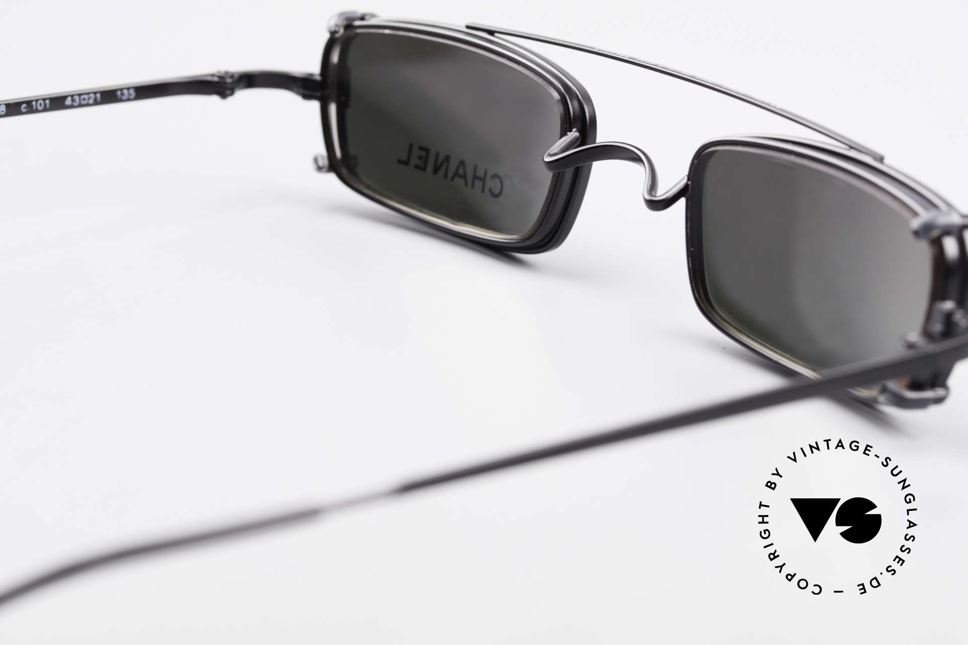 Chanel 2038 Luxury Glasses With Clip On, NO RETRO fashion, but a 20 years old vintage Original, Made for Men and Women