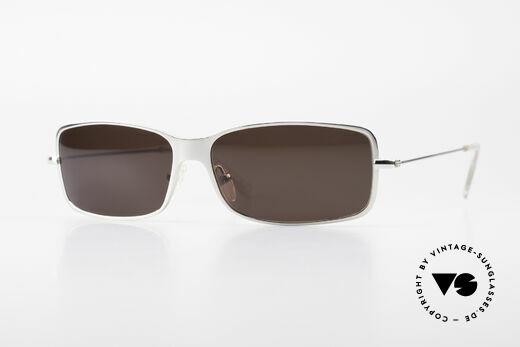 Helmut Lang SHL53B Puristic Titanium Sunglasses Details