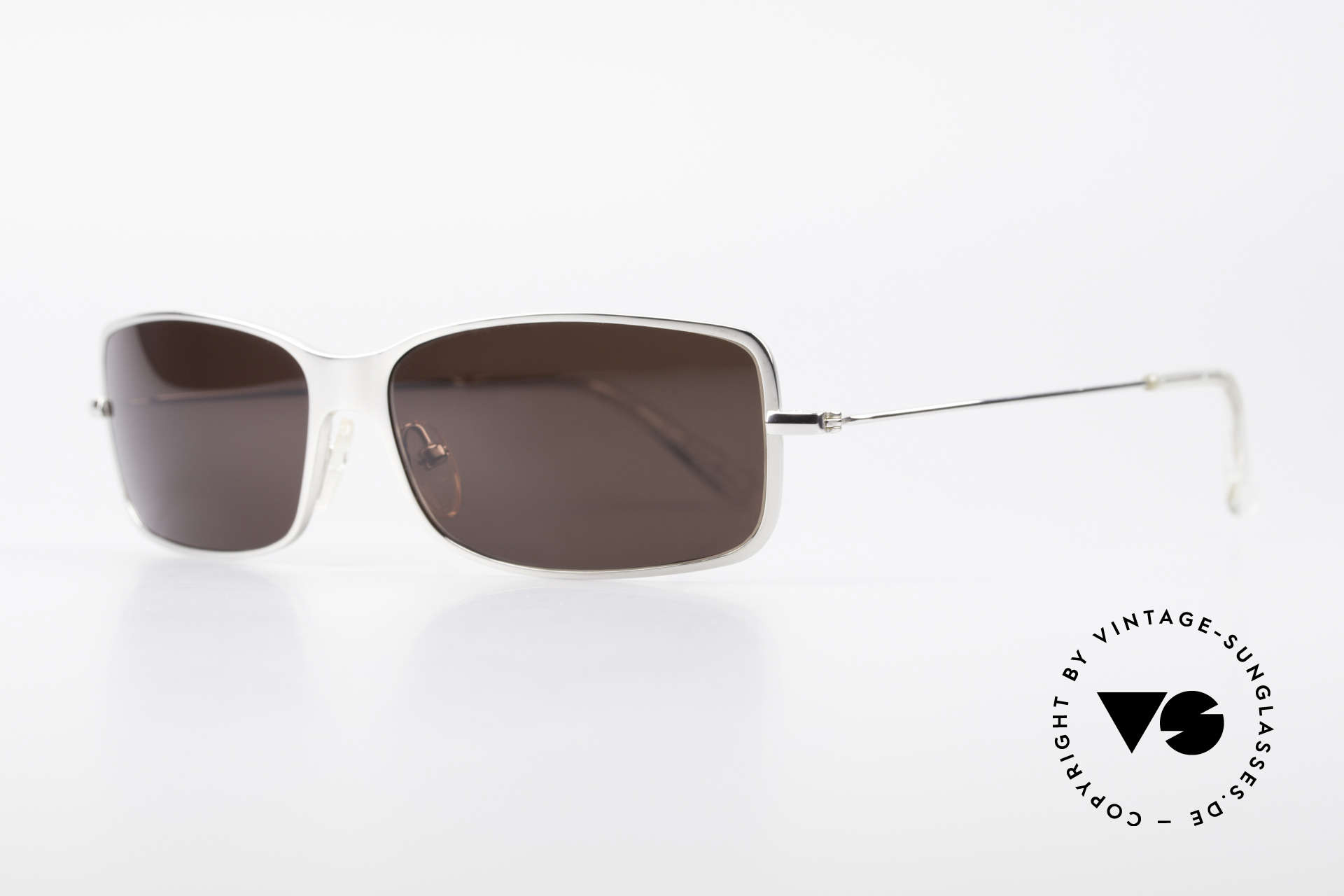 "Helmut Lang SHL53B Puristic Titanium Sunglasses, truly iconic ""Insider Sunglasses"" for all avant-gardist, Made for Men"