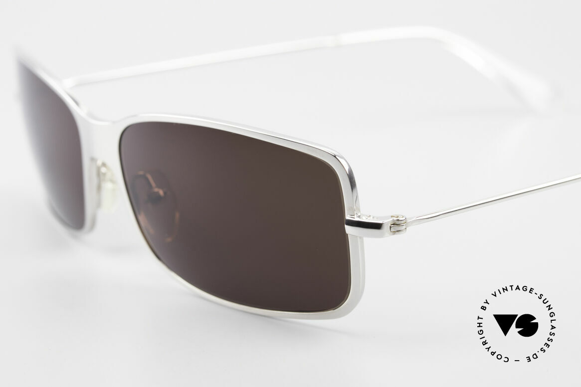 Helmut Lang SHL53B Puristic Titanium Sunglasses, top-notch quality & very pleasant to wear; lightweight, Made for Men