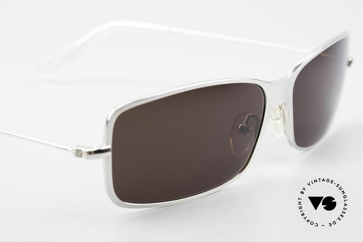 Helmut Lang SHL53B Puristic Titanium Sunglasses