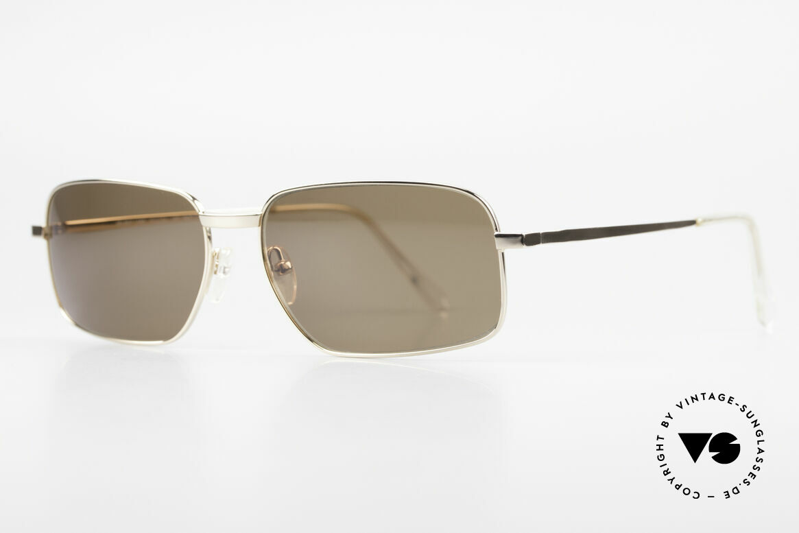 "Helmut Lang SHL62A Stylish Titanium Sunglasses, truly iconic ""Insider Sunglasses"" for all avant-gardist, Made for Men"