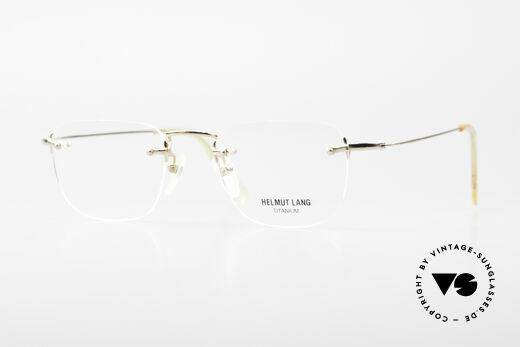 Helmut Lang VHL54A Rimless Titanium Eyeglasses Details