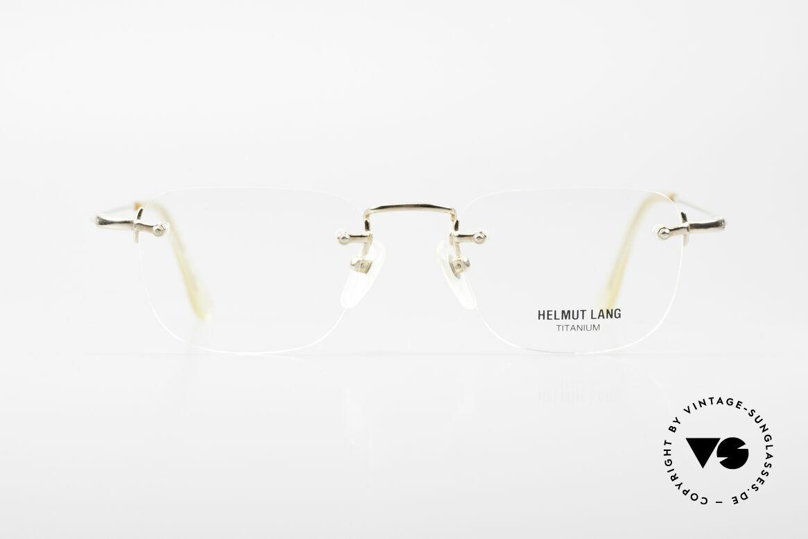 Helmut Lang VHL54A Rimless Titanium Eyeglasses