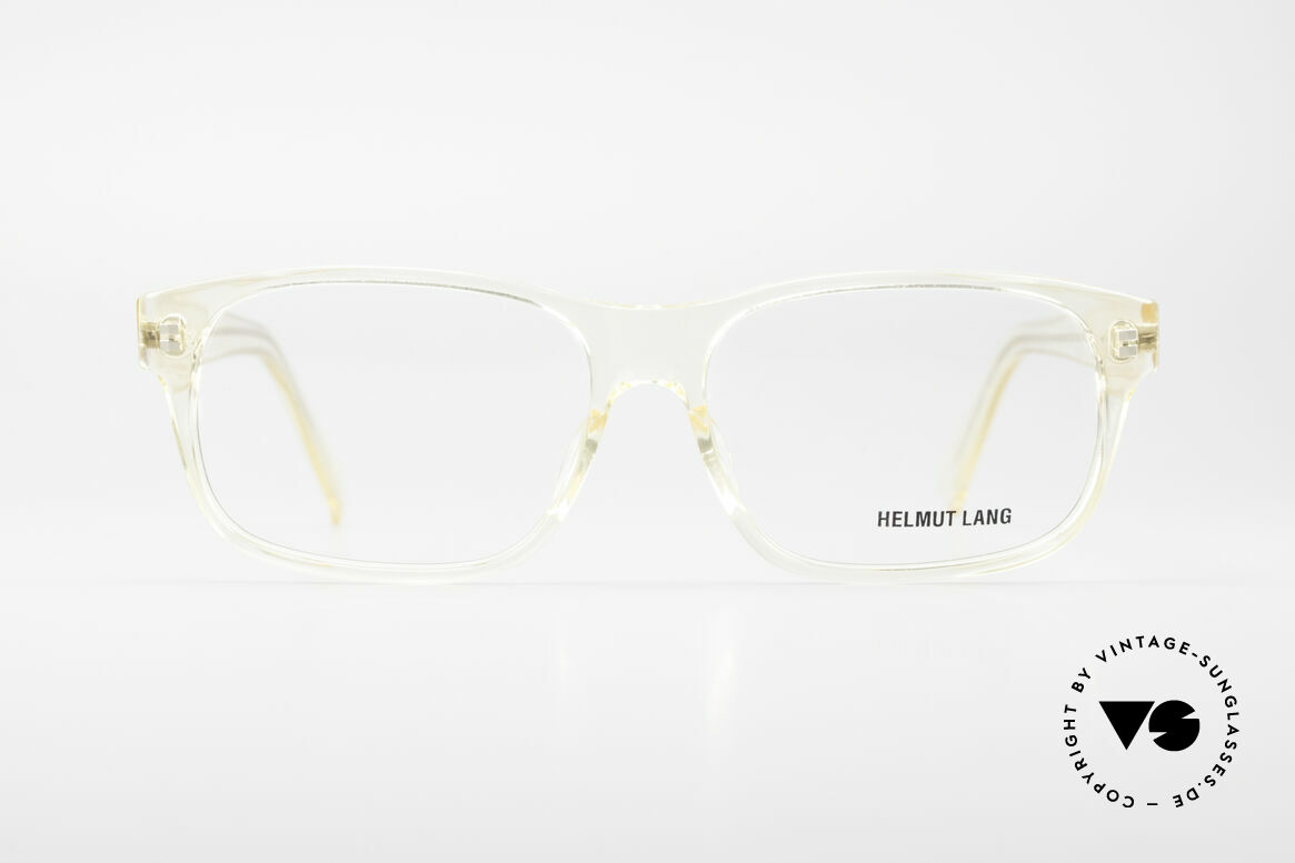 Helmut Lang 20-0001 Men's Vintage Glasses Crystal, HELMUT LANG men's vintage designer eyeglass-frame, Made for Men