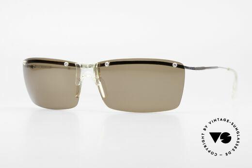 Helmut Lang SHL51A Sporty Titanium Sunglasses Details