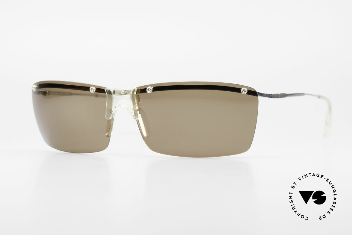 Helmut Lang SHL51A Sporty Titanium Sunglasses, HELMUT LANG vintage Designer Titanium sunglasses, Made for Men