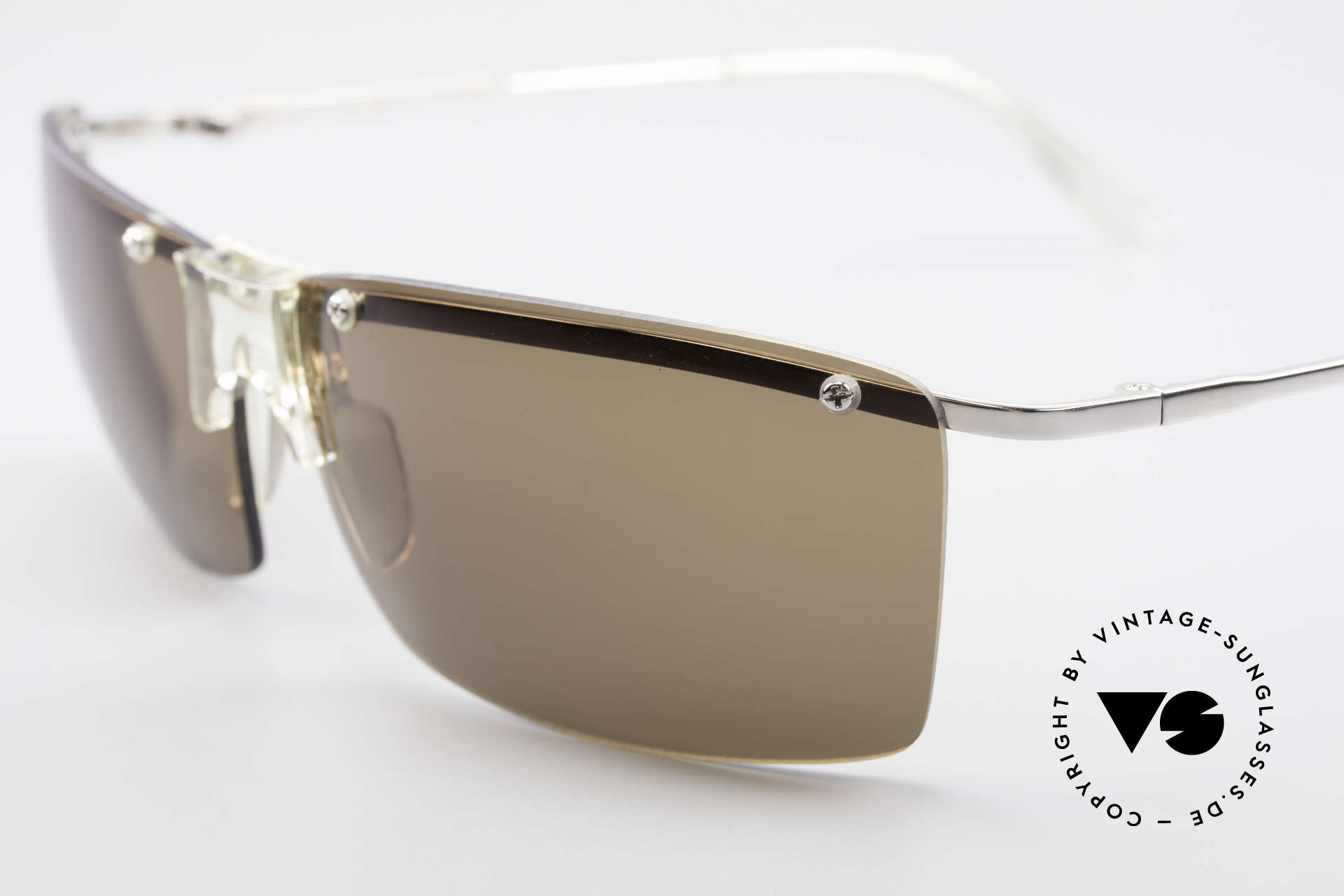 Helmut Lang SHL51A Sporty Titanium Sunglasses, top-notch quality & very pleasant to wear; lightweight, Made for Men