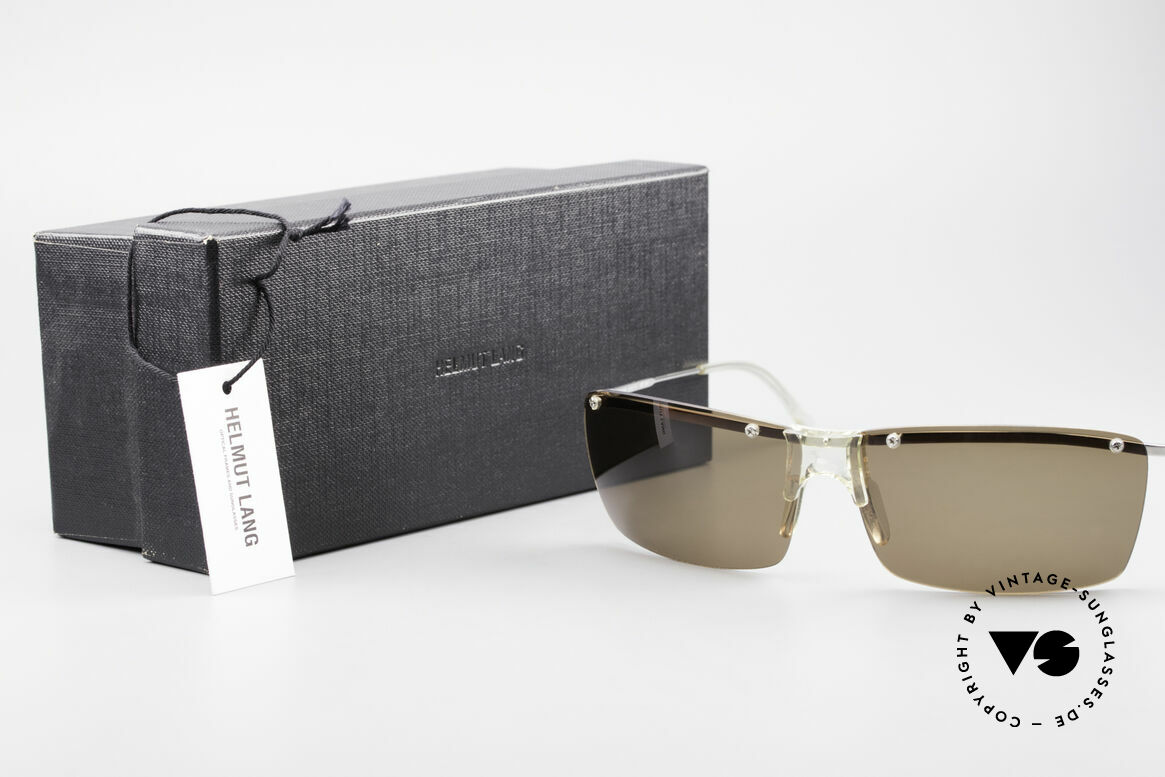 Helmut Lang SHL51A Sporty Titanium Sunglasses, Size: extra large, Made for Men
