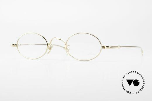 Lunor Oval Timeless Vintage Eyeglasses Details