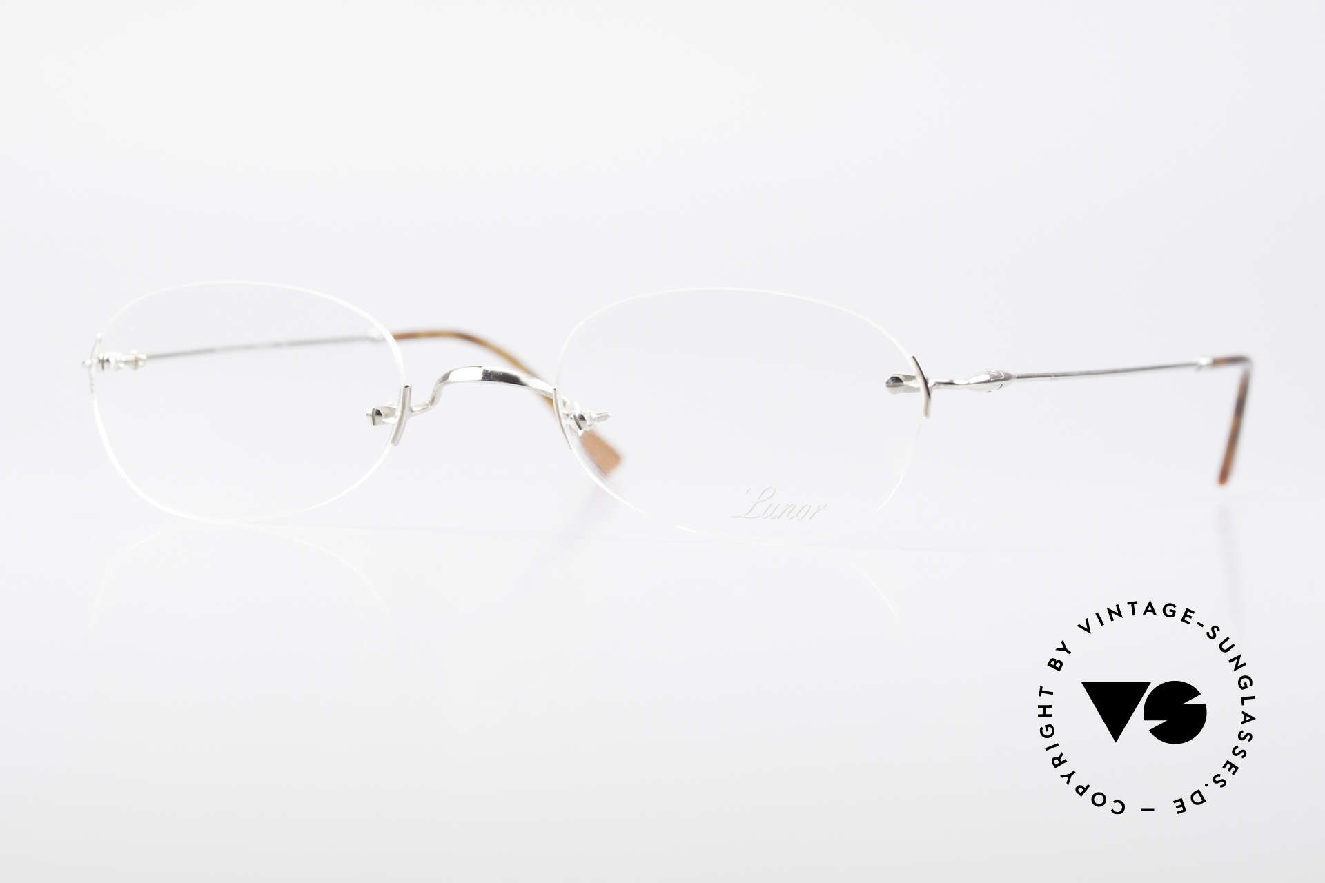 """Lunor Rimless Timeless Vintage Eyeglasses, LUNOR: shortcut for French """"Lunette d'Or"""" (gold glasses), Made for Men and Women"""