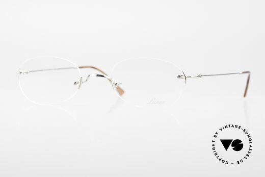 Lunor Rimless Timeless Vintage Eyeglasses Details