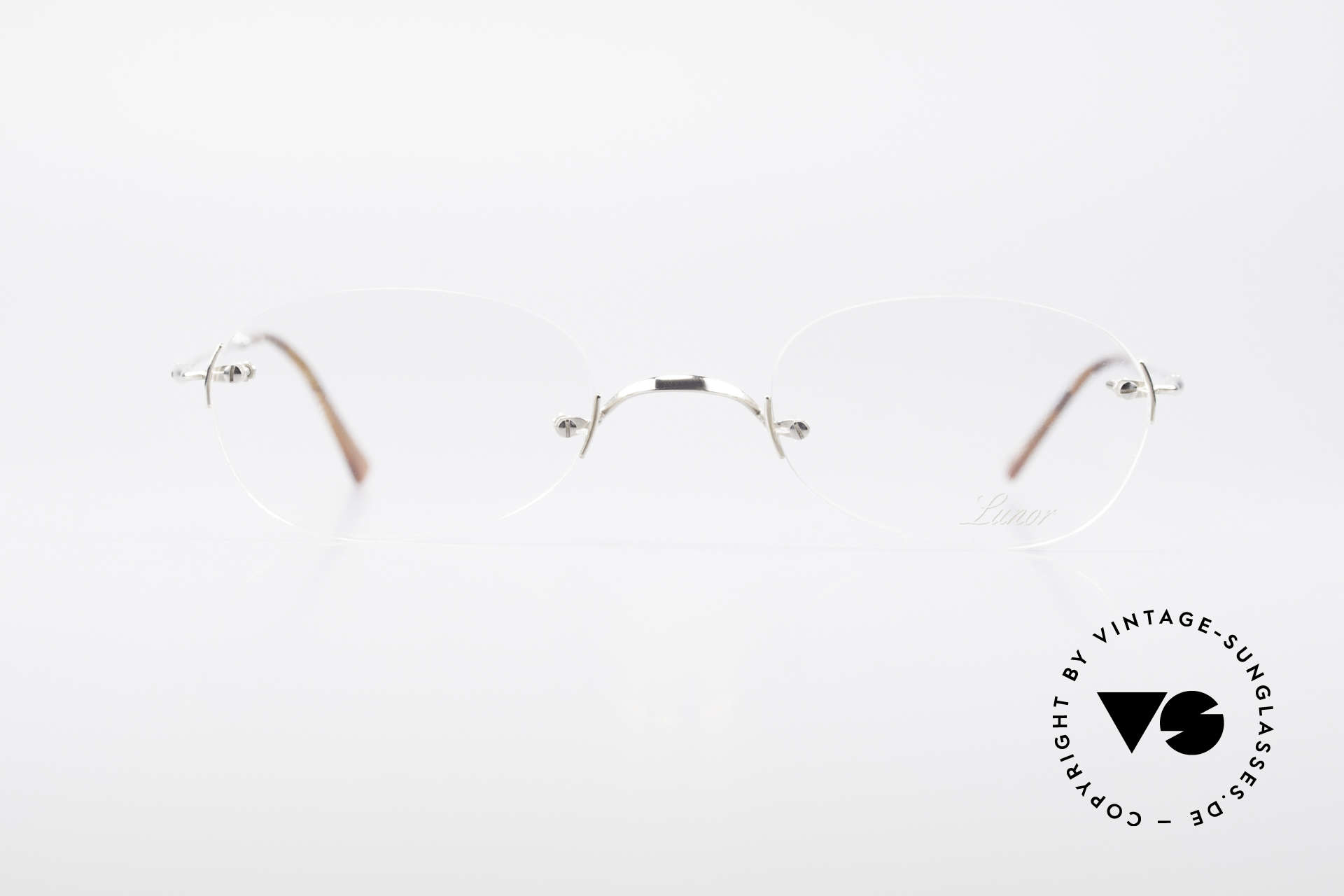 Lunor Rimless Timeless Vintage Eyeglasses, traditional German brand; quality handmade in Germany, Made for Men and Women