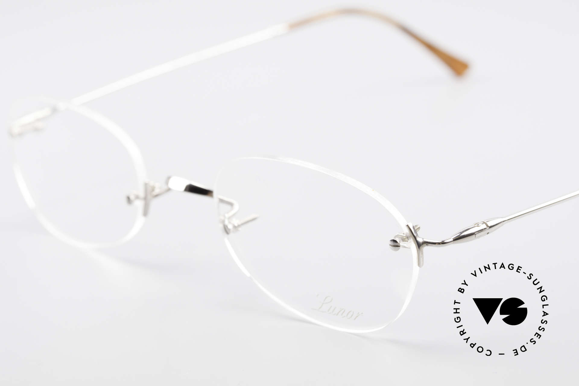 Lunor Rimless Timeless Vintage Eyeglasses, unworn RARITY (for all lovers of quality) from app. 1999, Made for Men and Women