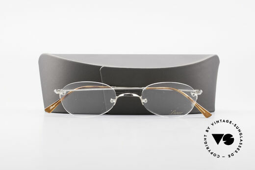 Lunor Rimless Timeless Vintage Eyeglasses, the LUNOR frame comes with a new case by SILHOUETTE, Made for Men and Women