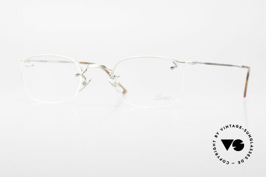 Lunor Classic Semi Rimless Vintage Glasses Details