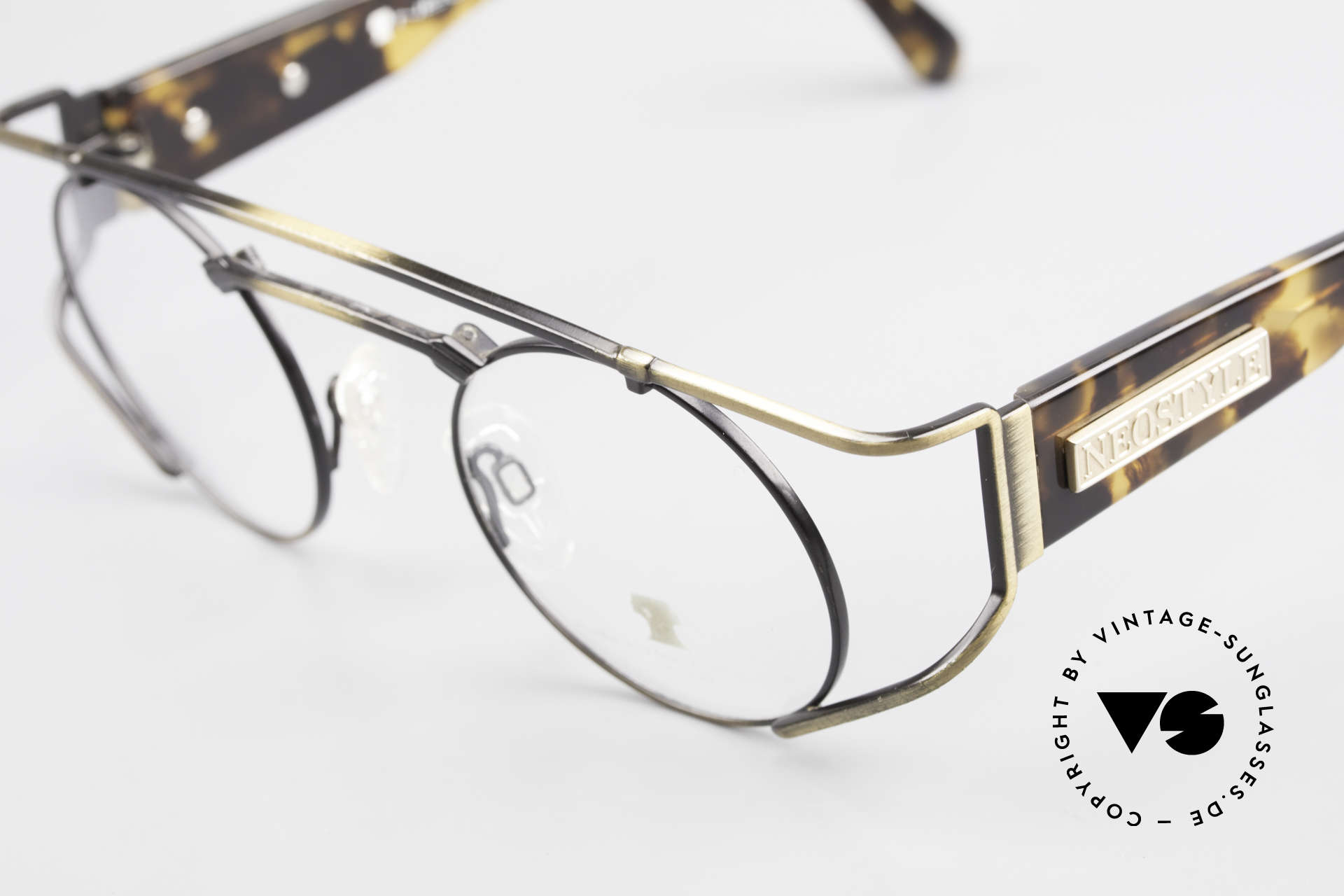 Neostyle Superstar 1 Steampunk Vintage Eyeglasses, metal parts in a kind of 'antique gold / burnt gold', Made for Men and Women
