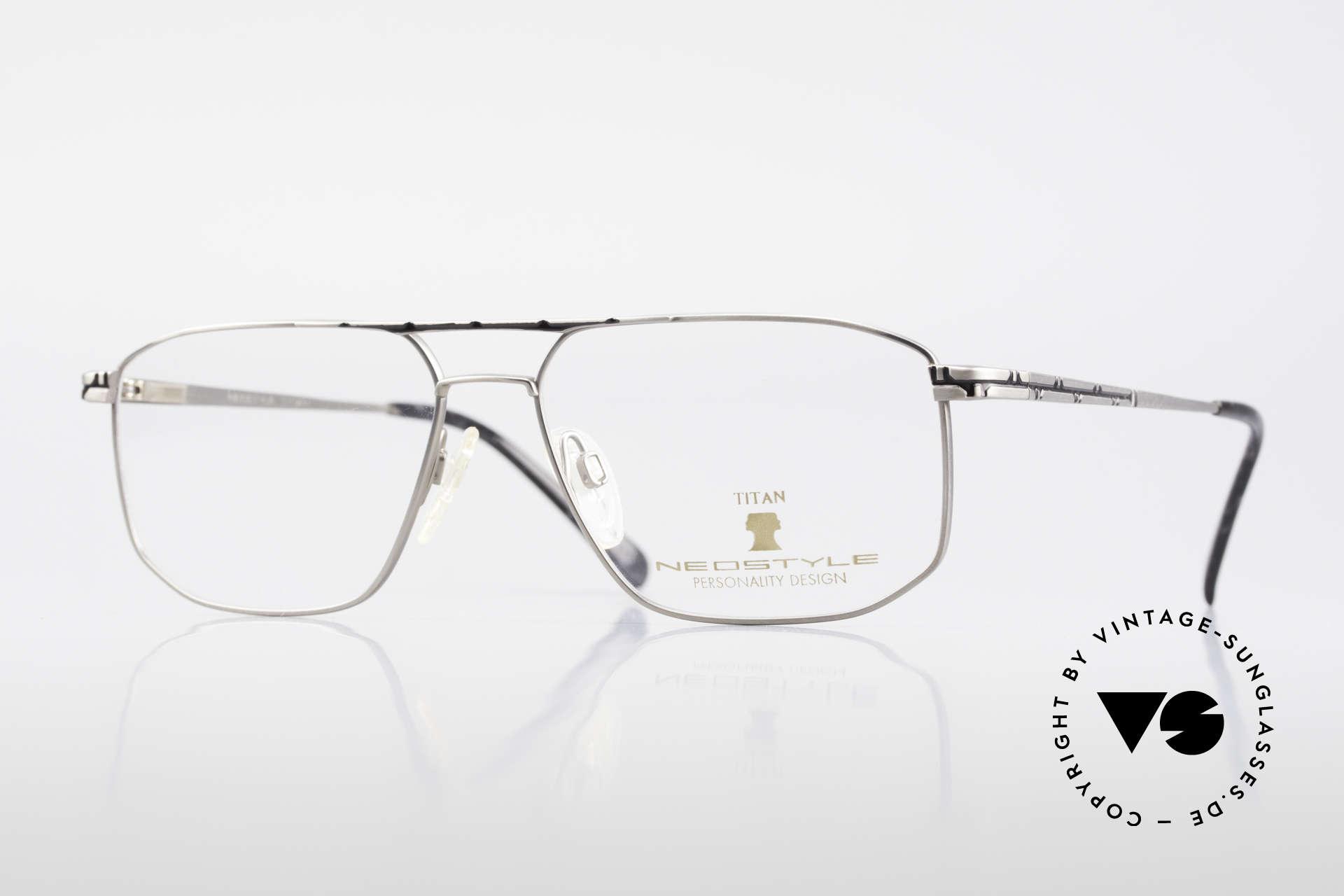 Neostyle Dynasty 362 XL Titanium Eyeglasses Men, striking NEOSTYLE men's glasses; X-LARGE size, Made for Men