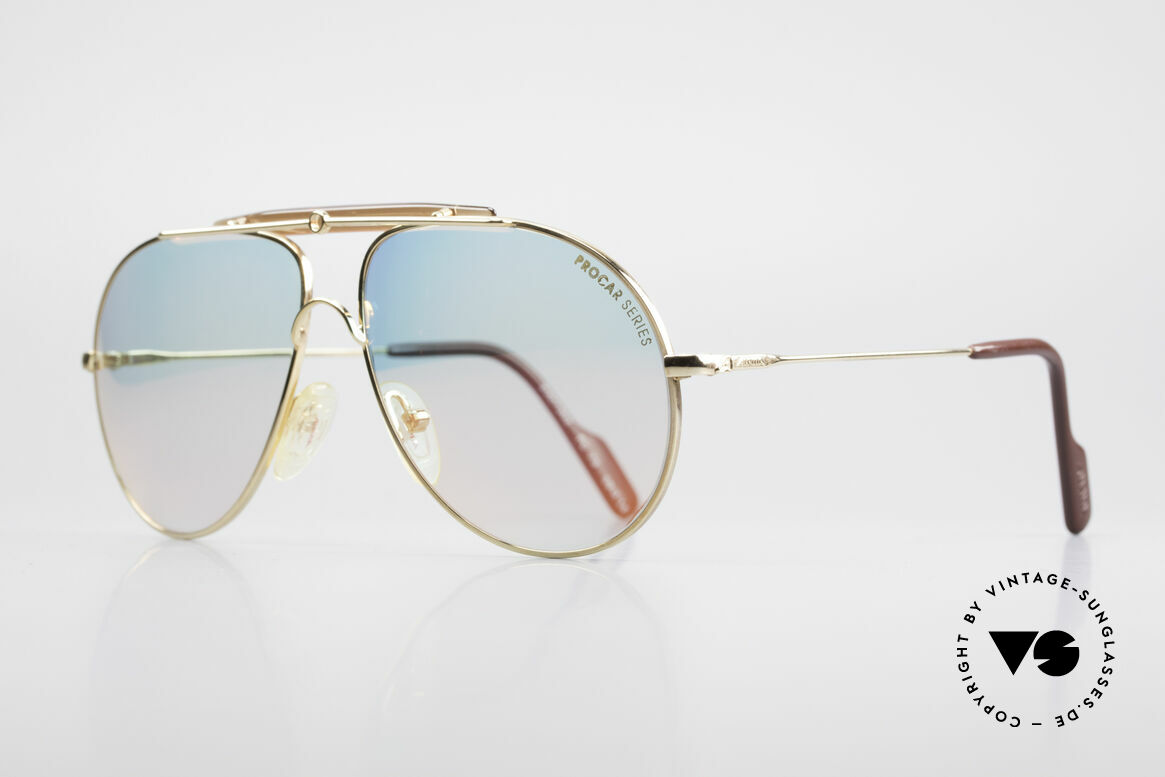 Alpina PC73 ProCar Serie Sunglasses Men, high-end nonreflecting / coated mineral lenses, 100% UV, Made for Men and Women