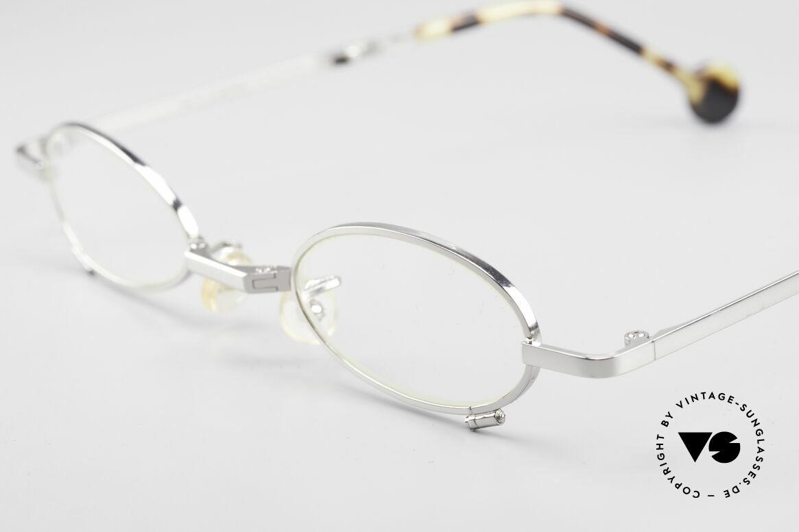 L.A. Eyeworks TIO 405 Vintage Folding Eyeglasses, practical foldable metal frame (fits every pocket) + case, Made for Men and Women