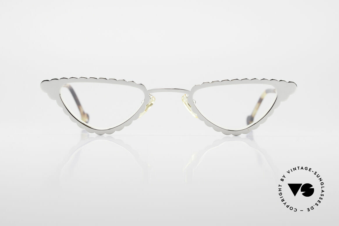 L.A. Eyeworks Macaroni 405 Reading Glasses Like A Leaf, metal frame is shaped like a leaf (a true EYE-CATCHER), Made for Women