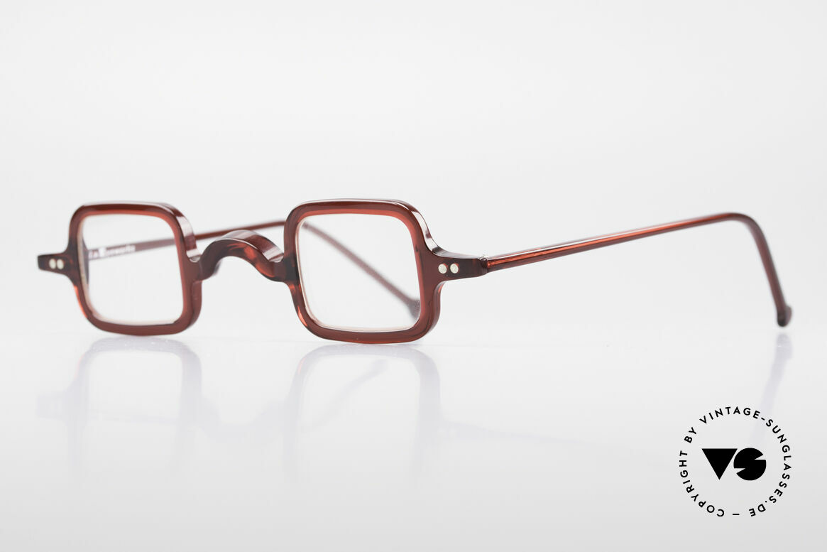 L.A. Eyeworks LALO 347 Vintage 90's Glasses No Retro, ruby colored frame (for ladies and gentlemen), Top!, Made for Men and Women