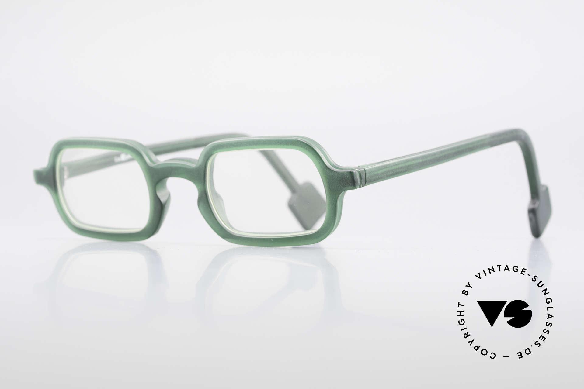 L.A. Eyeworks HANK 230 True Vintage 90's Eyeglasses, minimalist construction of simple geometric forms, Made for Men