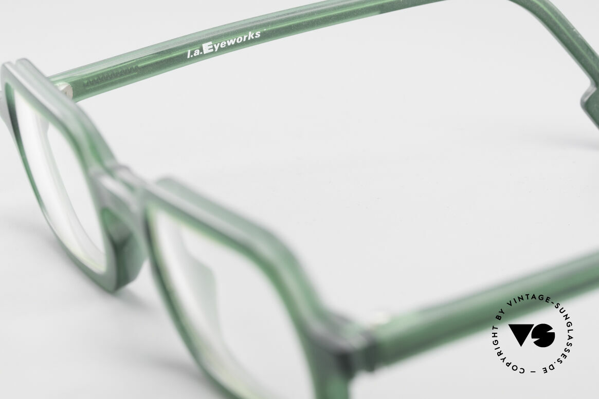 L.A. Eyeworks HANK 230 True Vintage 90's Eyeglasses, unworn, one of a kind (like all our L.A.E. spectacles), Made for Men