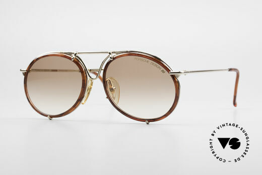 Porsche 5661 Classic 90's Sunglasses Round Details