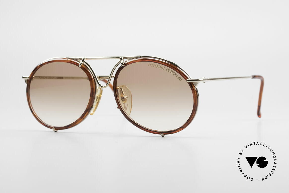 Porsche 5661 Classic 90's Sunglasses Round, sporty but classic vintage shades by Porsche Carrera, Made for Men and Women