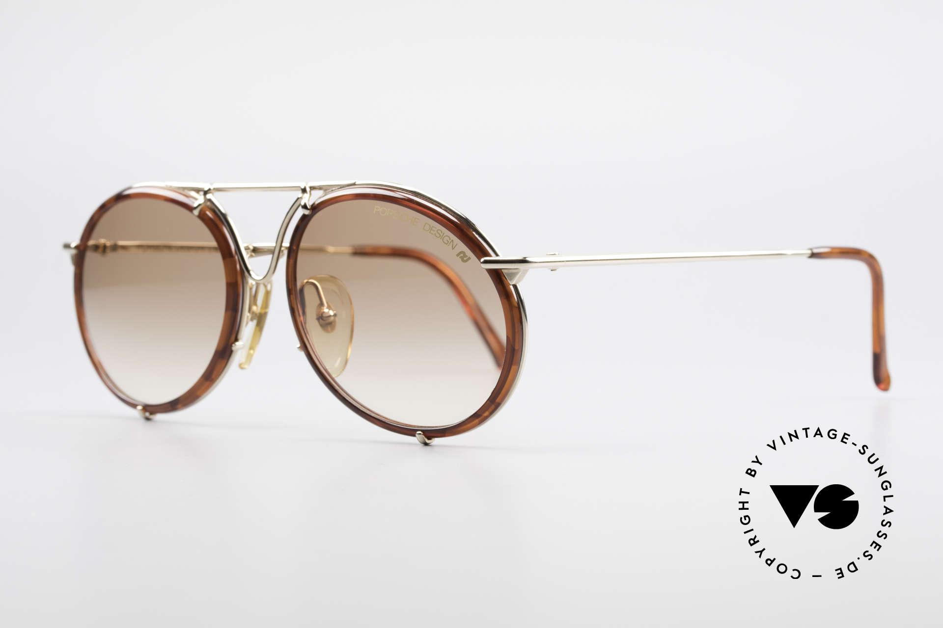 Porsche 5661 Classic 90's Sunglasses Round, best craftsmanship & top materials; 100% UV protec., Made for Men and Women