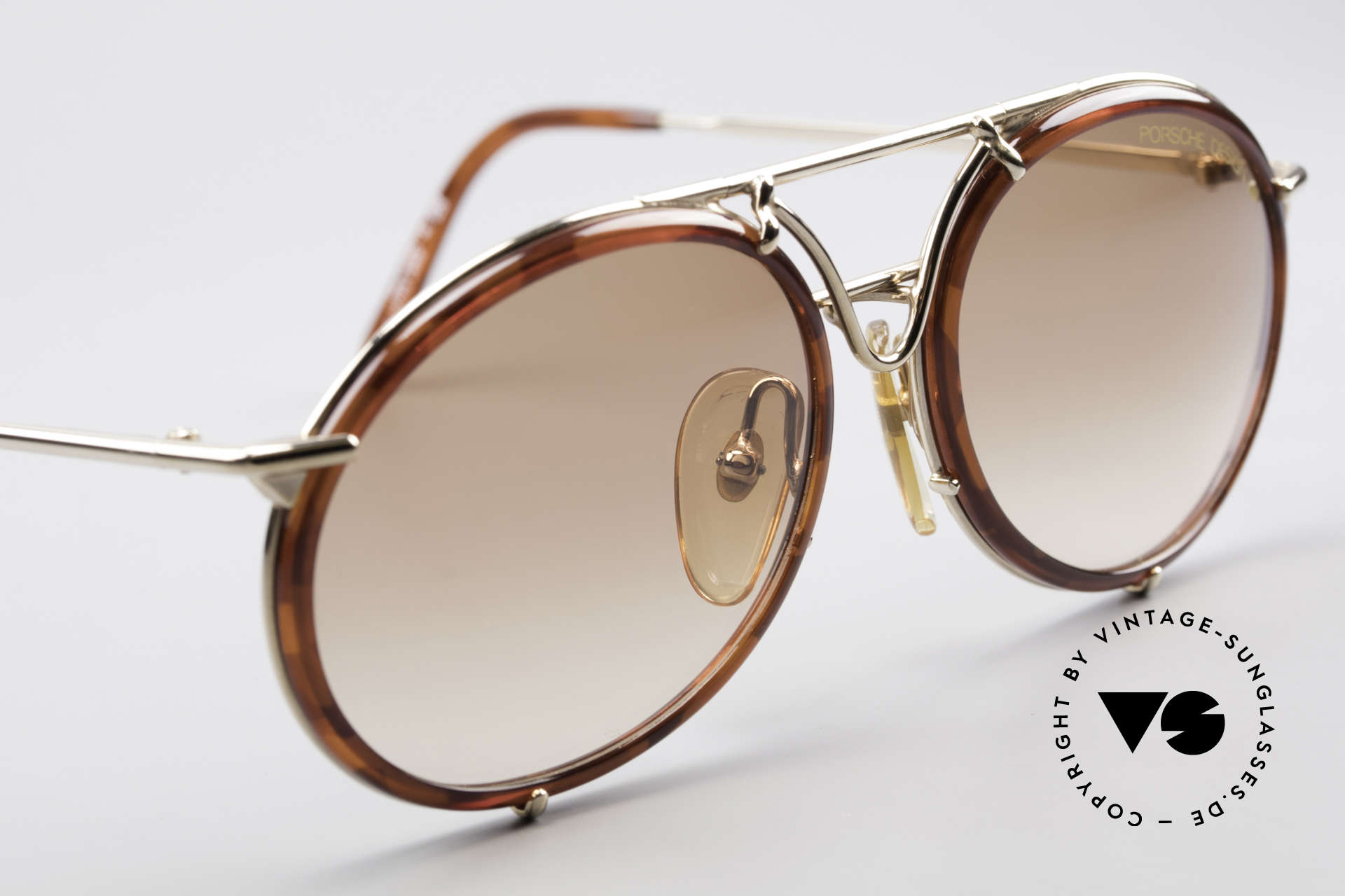 Porsche 5661 Classic 90's Sunglasses Round, NO RETRO, but an old ORIGINAL from the early 90's, Made for Men and Women