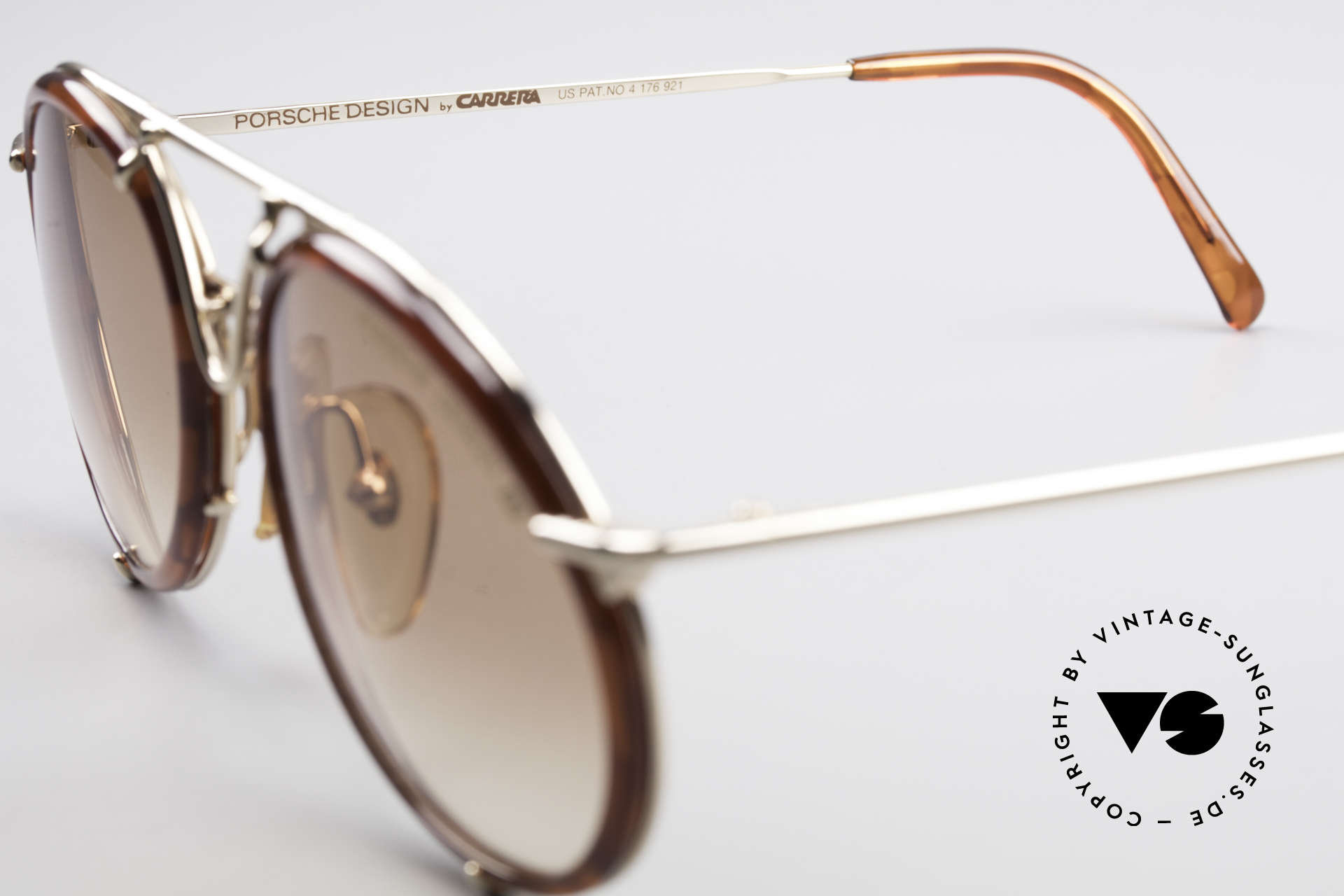 Porsche 5661 Classic 90's Sunglasses Round, the sun lenses could be replaced with prescriptions, Made for Men and Women