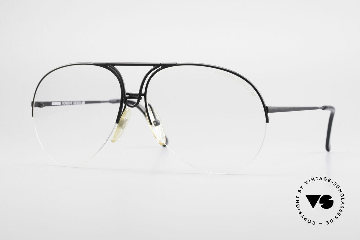 Porsche 5627 Semi Rimless 90's Frame Large, noble designer eyeglasses by PORSCHE DESIGN, Made for Men