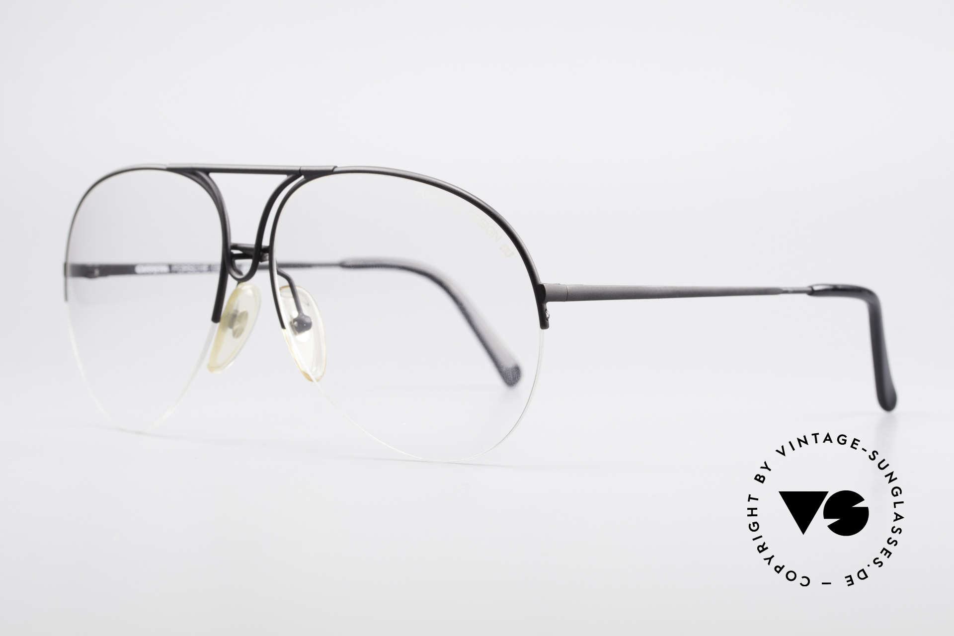 Porsche 5627 Semi Rimless 90's Frame Large, classic aviator design - in LARGE size 63/15 mm, Made for Men