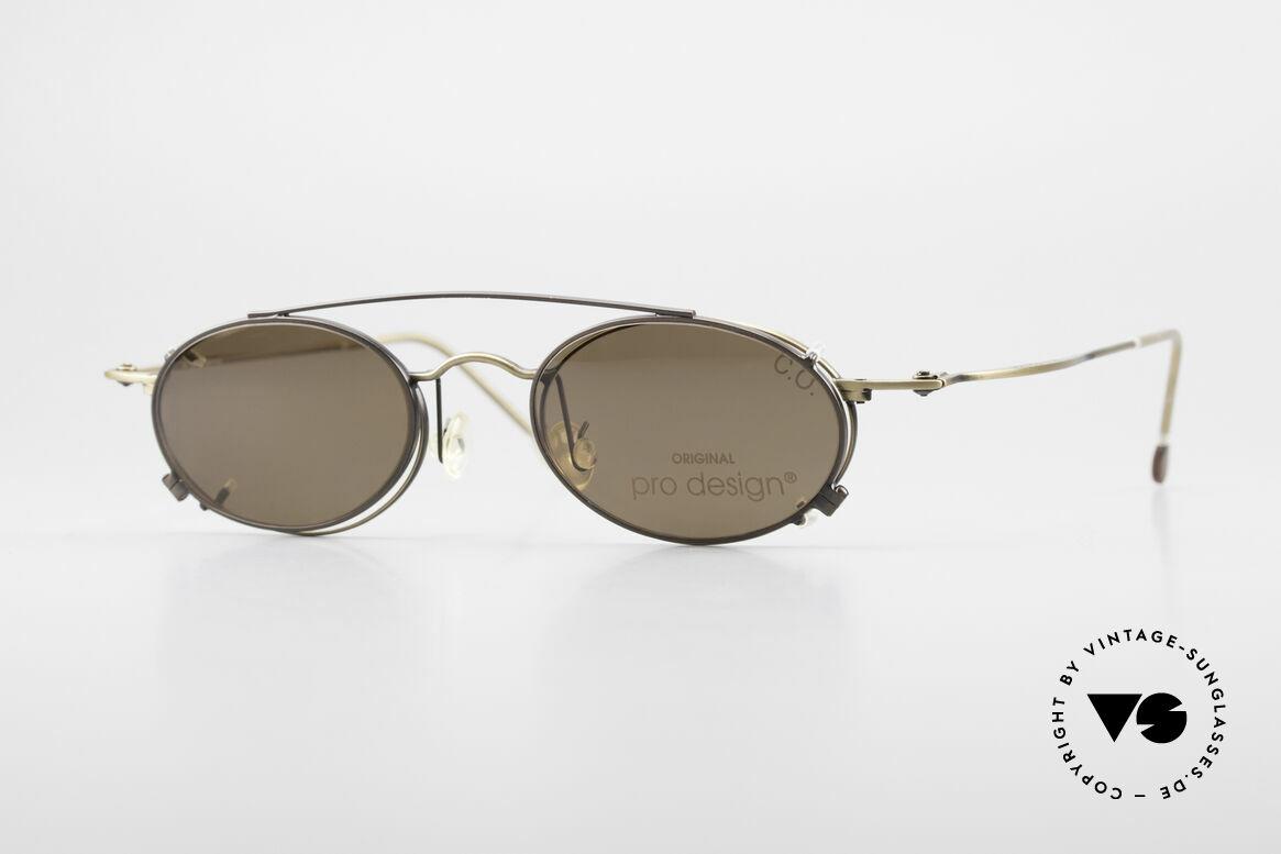ProDesign P806 Polarized Clip On 90's Shades, noble 90's designer eyeglasses by Pro Design, Denmark, Made for Men and Women