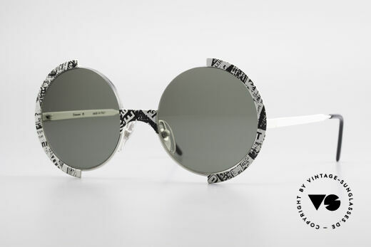 Casanova FC4 Fancy Newspaper Sunglasses Details
