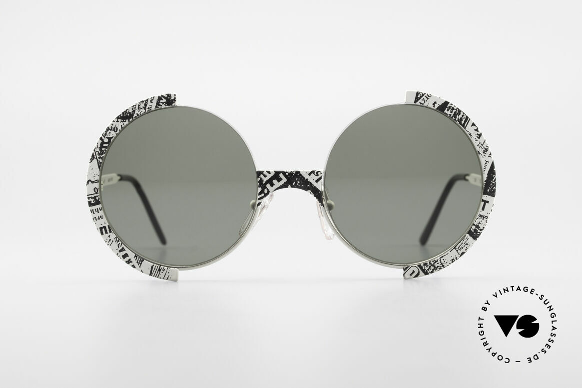 Casanova FC4 Fancy Newspaper Sunglasses, interesting frame pattern (looks like a newspaper), Made for Men and Women