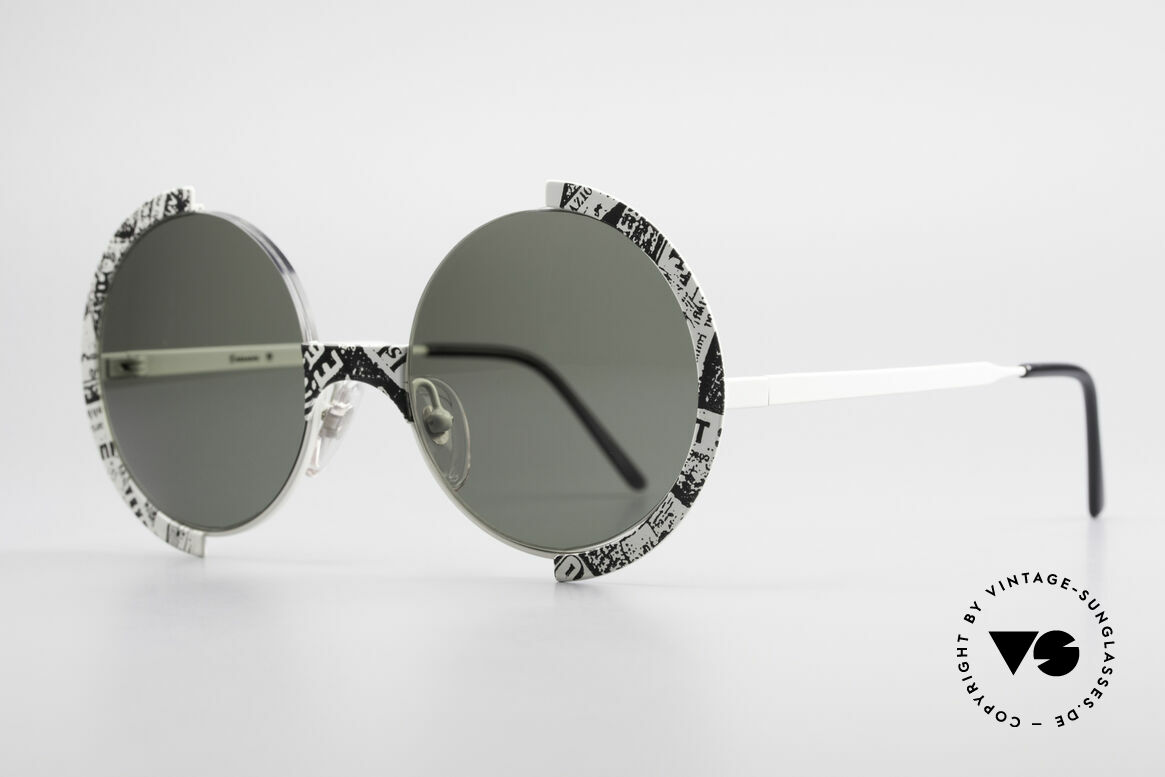 Casanova FC4 Fancy Newspaper Sunglasses, eye-catcher, rarity & highlight for every collector, Made for Men and Women