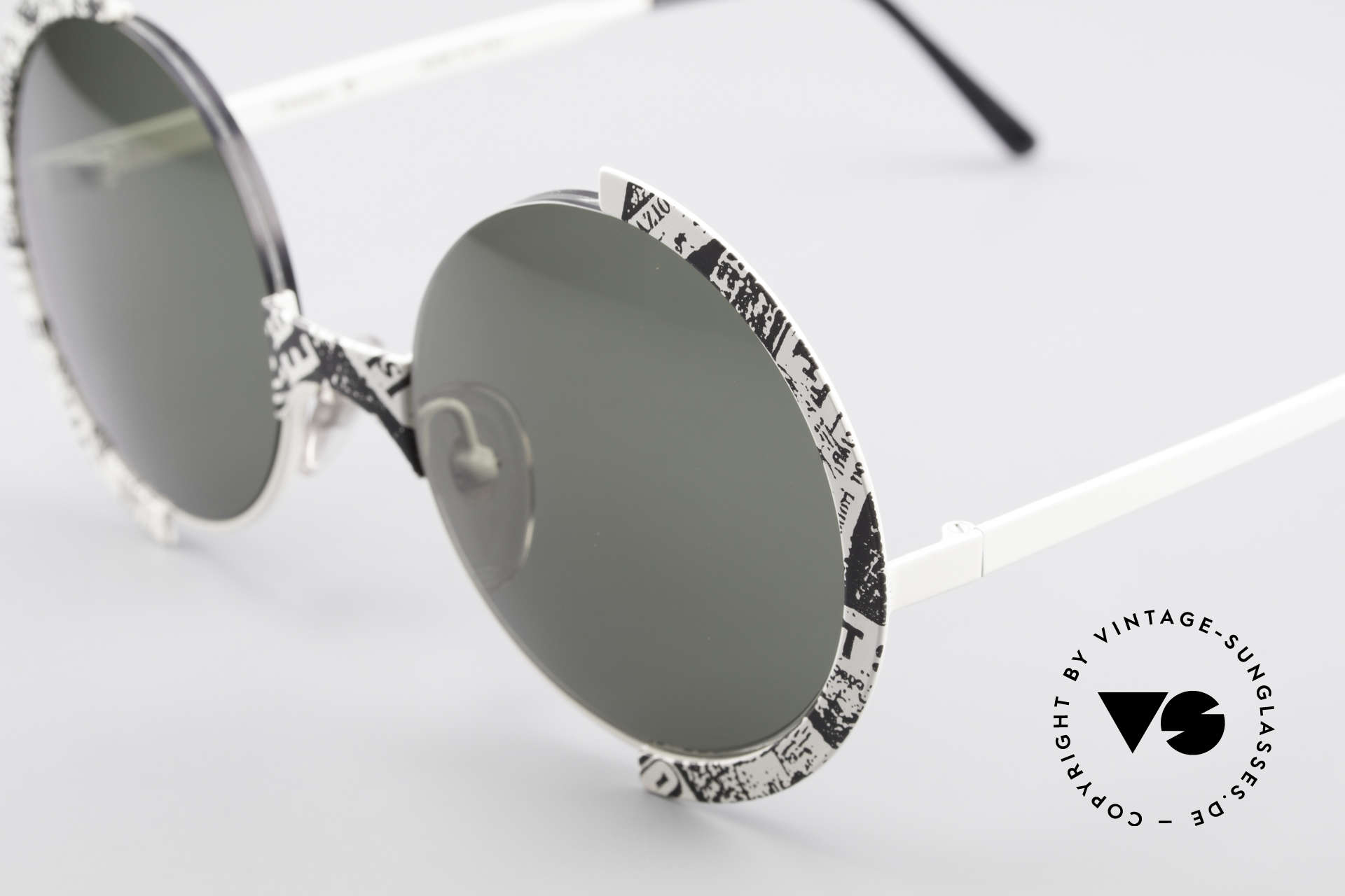 Casanova FC4 Fancy Newspaper Sunglasses, actually belongs in a musem, since 'a piece of art', Made for Men and Women