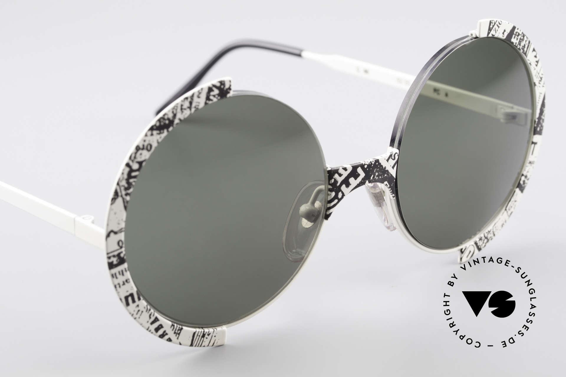 Casanova FC4 Fancy Newspaper Sunglasses, unworn (like all our rare vintage Casanova shades), Made for Men and Women