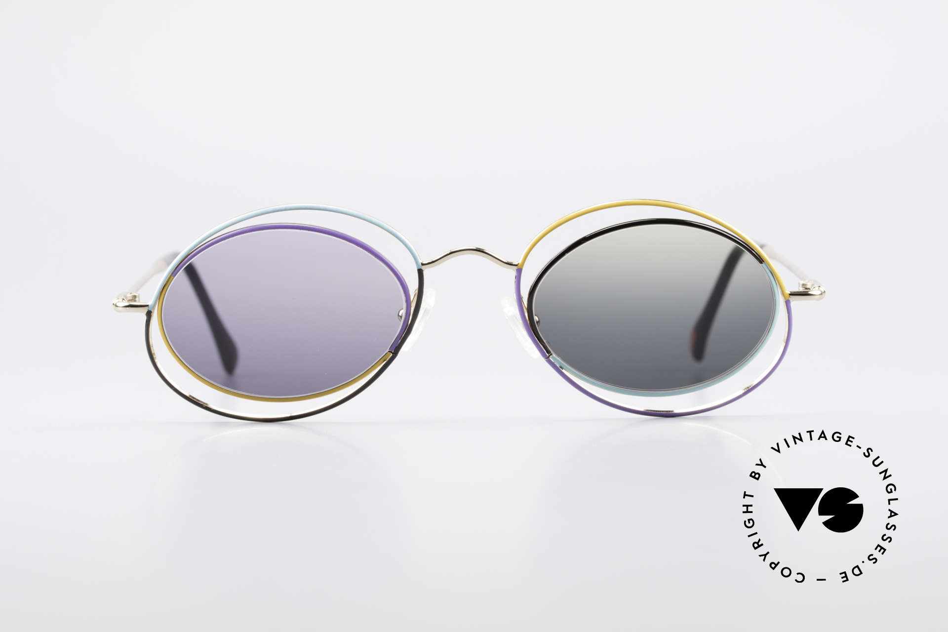 Casanova LC18 Vintage Art Sunglasses 80's, shades with different colored sun lenses; FANCY!, Made for Women