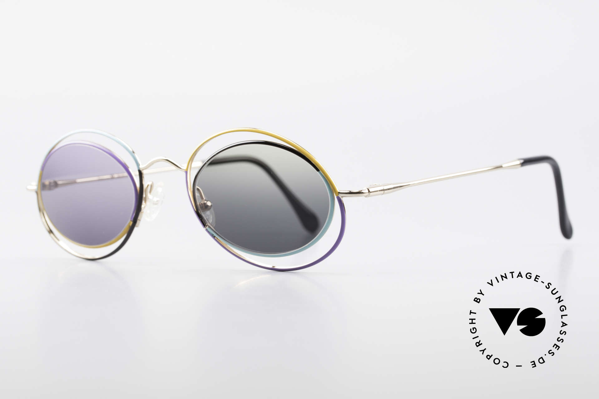 Casanova LC18 Vintage Art Sunglasses 80's, artful, imaginative, colorful, functional, different, Made for Women
