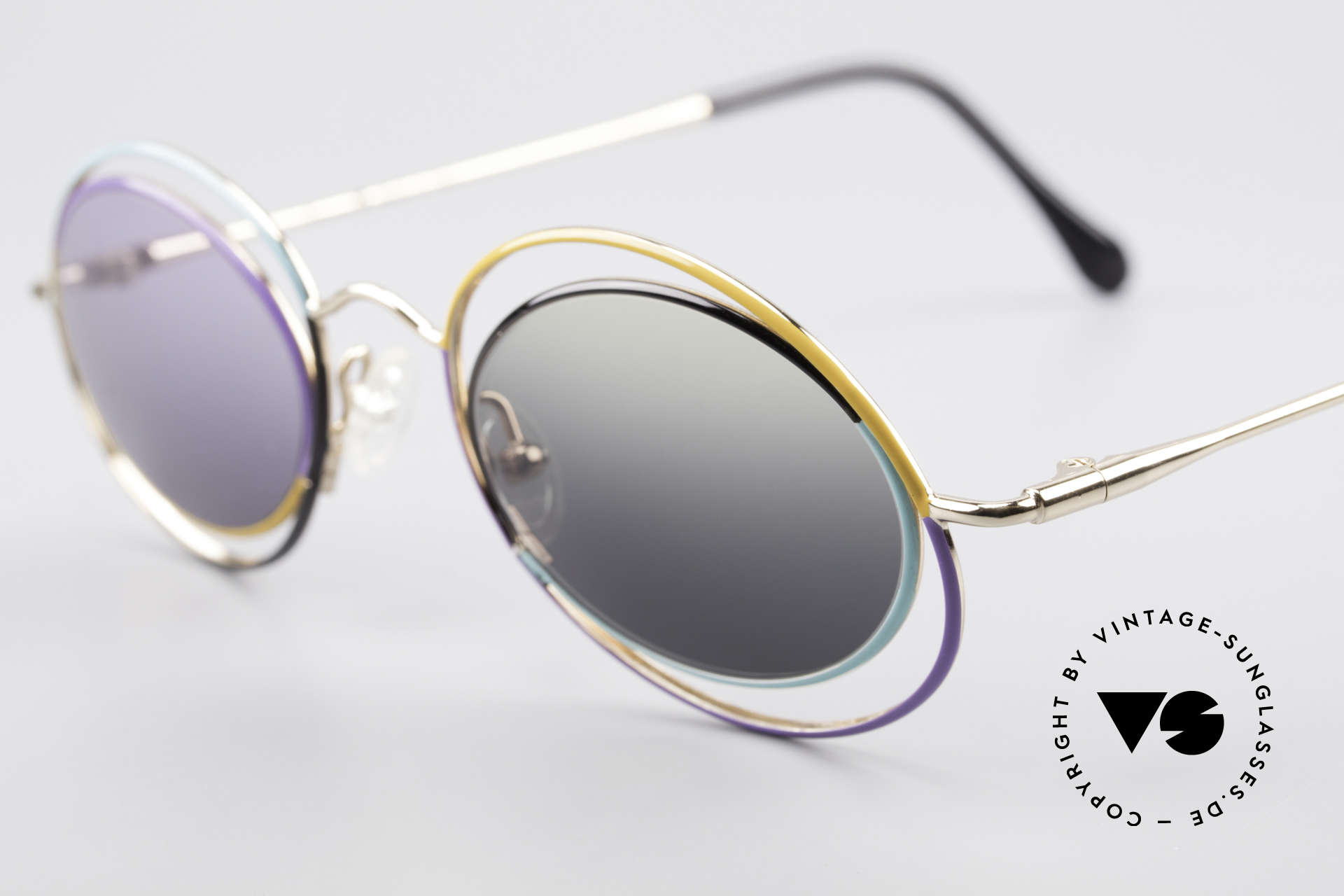 Casanova LC18 Vintage Art Sunglasses 80's, true vintage rarity & highlight for every collector, Made for Women