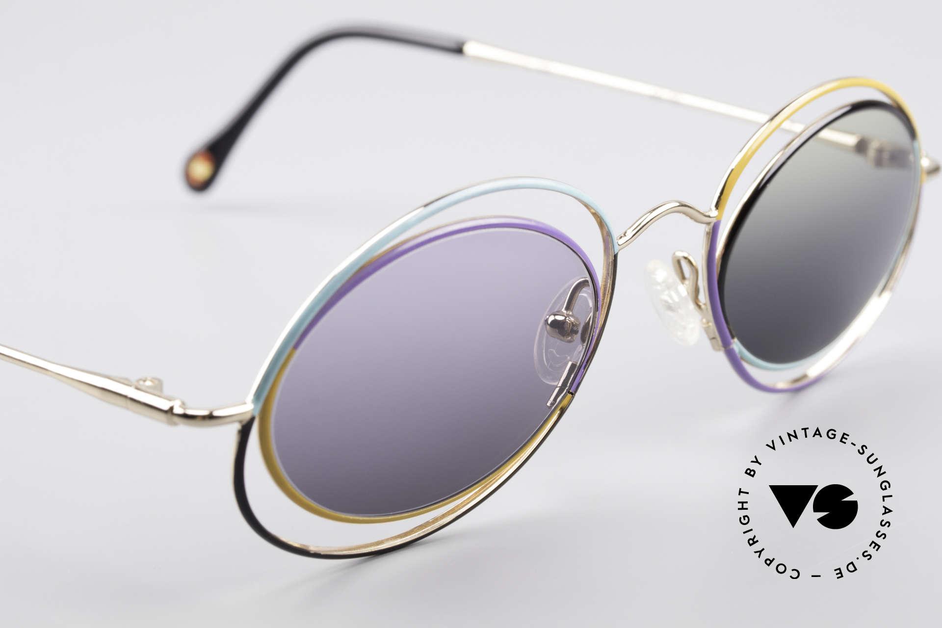 Casanova LC18 Vintage Art Sunglasses 80's, unworn (N.O.S.) single item: really a piece of art!, Made for Women