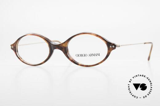 Giorgio Armani 378 90's Unisex Eyeglasses Oval Details