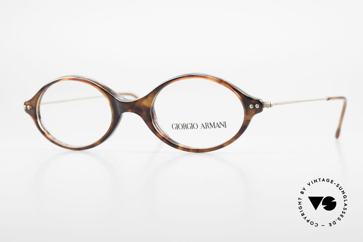 Giorgio Armani 378 90's Unisex Eyeglasses Oval, Giorgio Armani, Mod. 378, col. 174, Gr. 46-19, 140, Made for Men and Women