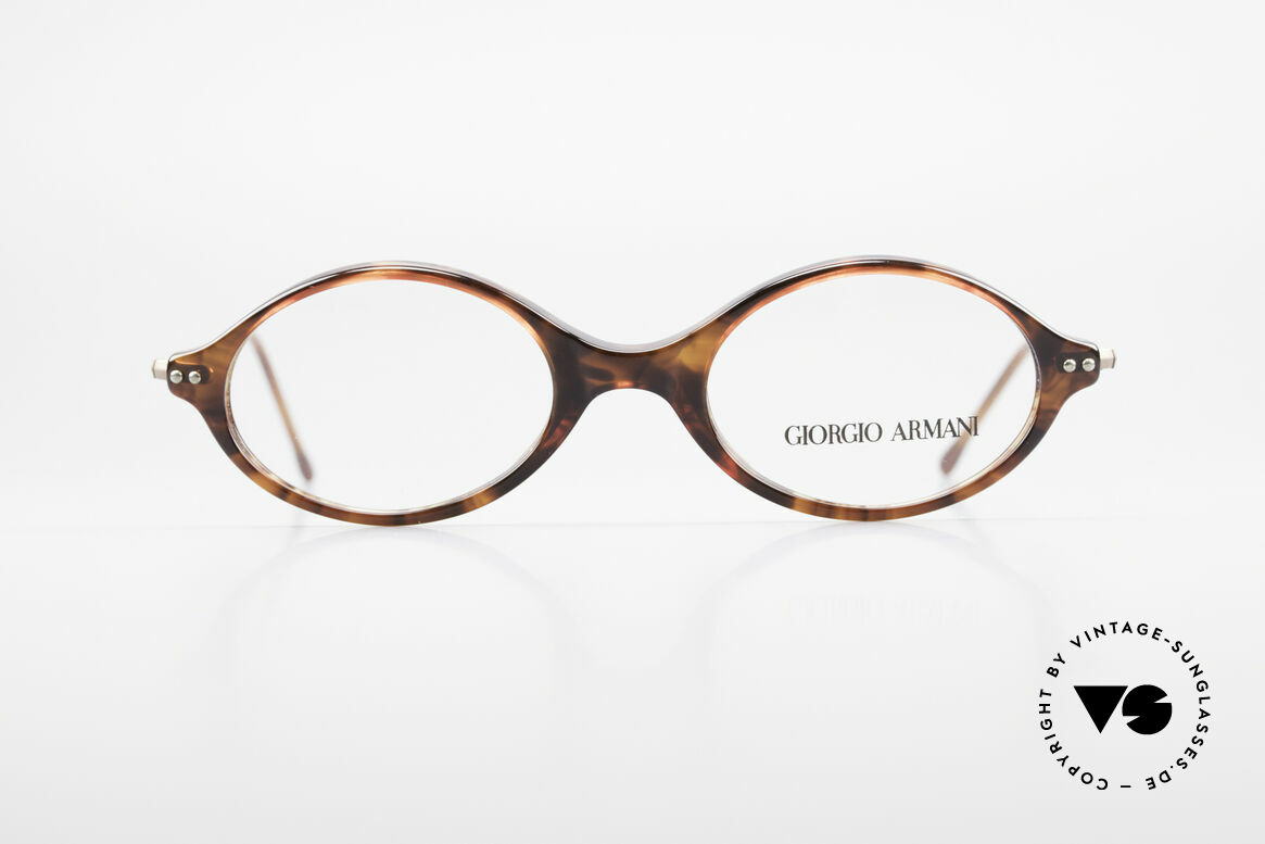 Giorgio Armani 378 90's Unisex Eyeglasses Oval, plain & puristic Armani eyeglasses (unisex design), Made for Men and Women