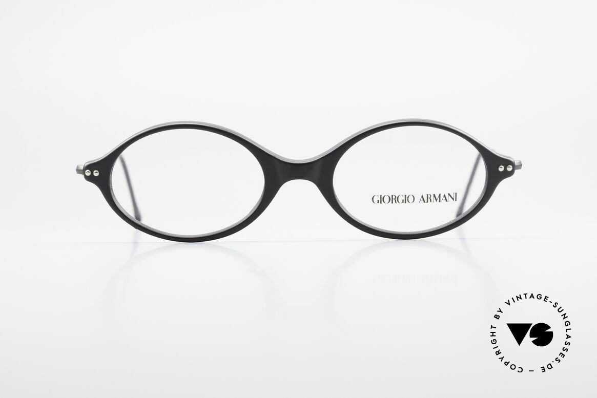 Giorgio Armani 378 90's Vintage Unisex Frame Oval, plain & puristic Armani eyeglasses (unisex design), Made for Men and Women